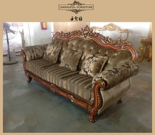 Royal crystal furniture sofa set with best velet in China