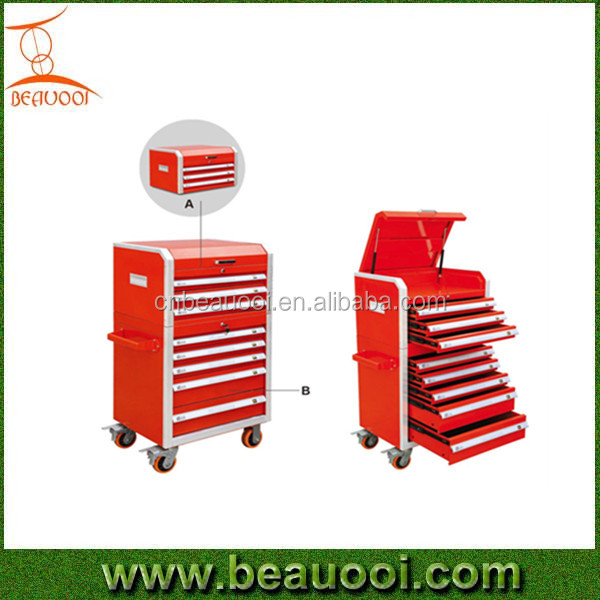 5 drawers 8 drawers new germany type Ningbo China multifuction car repair kraftwelle tool box trolley