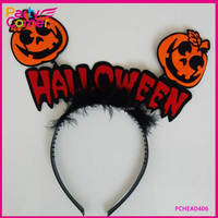 Cheap Halloween Pumpkin Headband With PVC