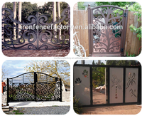 Garden safety gate fencing trellis/outdoor fence used wrought iron door gates/welded garden fence panels