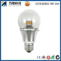 Energy saver 9W 360 degree Dimmable LED Globe Bulb E27 E26 B22