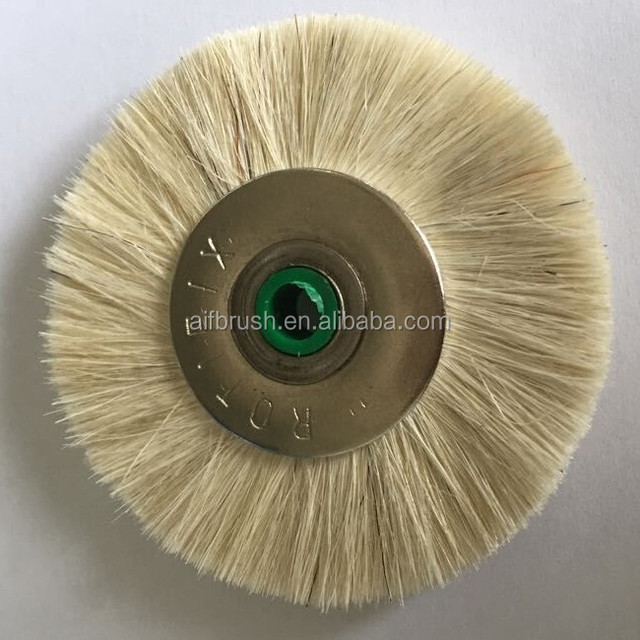 Germany hole sale OD 48mm goat hair mini brush with 5mm inner hole