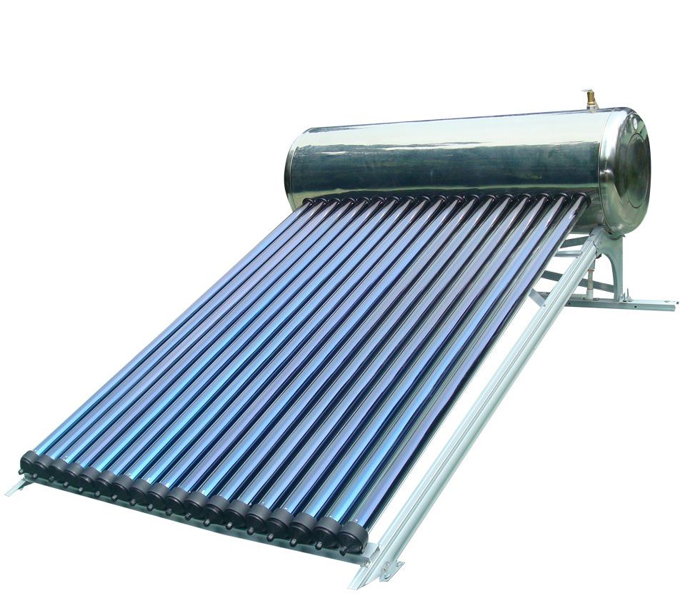 100L Integrated Pressurized Bearing Solar Water Heater With water Tank Heat Pipe Solar Hot water Stainless Steel Solar Geysers