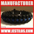 whistle army paracord survival bracelet wholesale