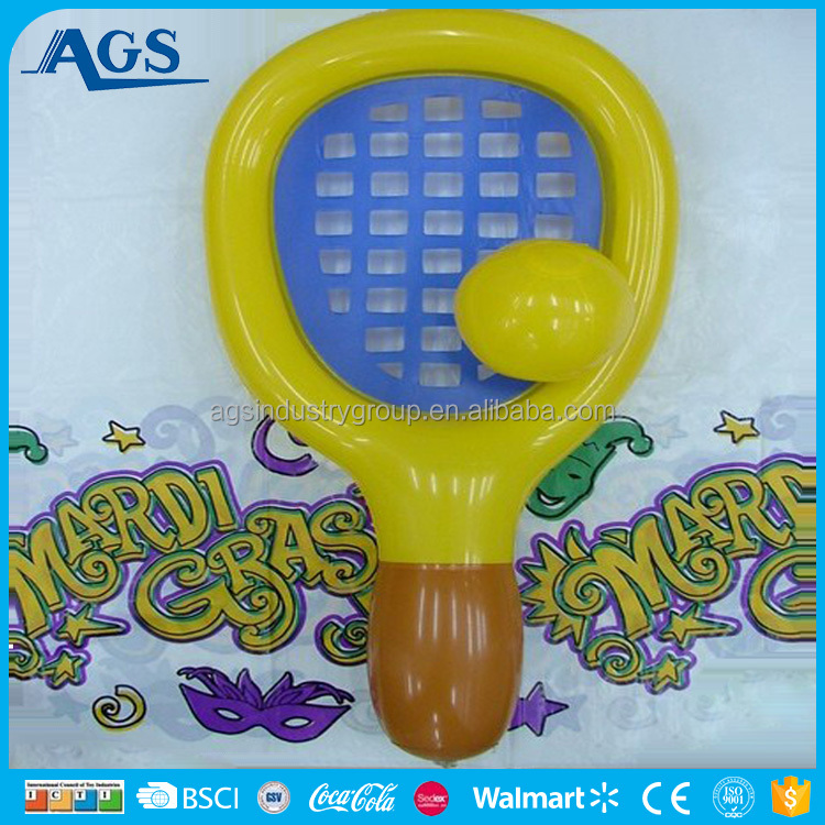 Attractive custom inflatable tennis racket inflatable toy for promotion