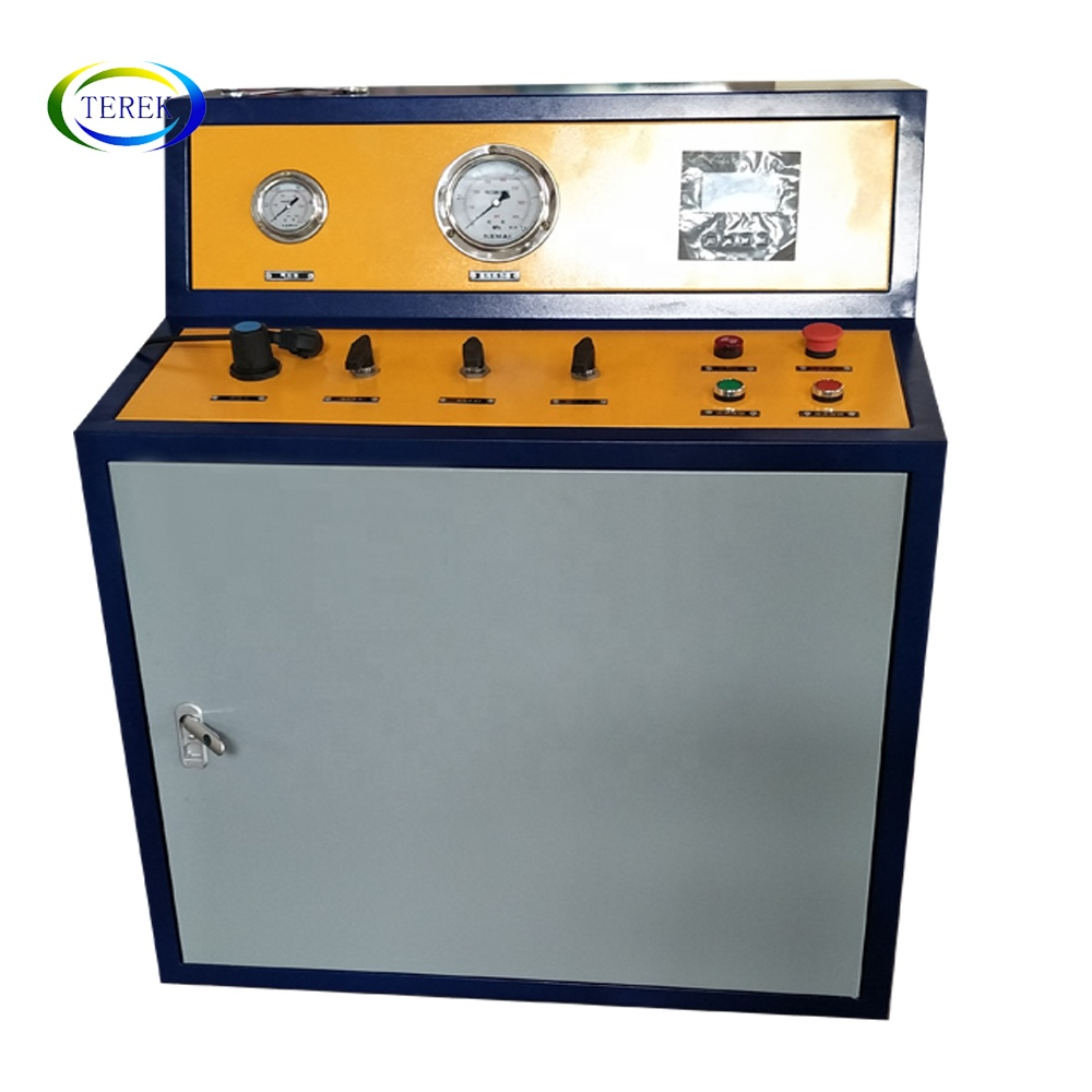Leak and burst pressure testing machine