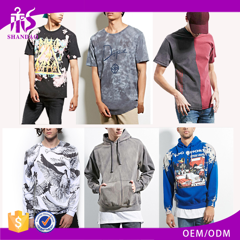 China Wholesale Guangzhou Shandao Brand Factory High Quality Custom Design Printing Breathable Casual Men Clothing