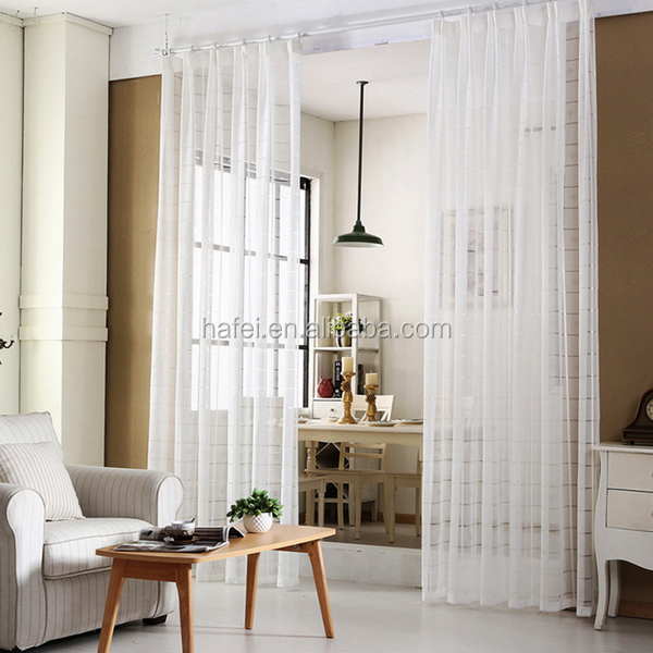 Ready made expensive curtains style sheer drapery for home sheer curtain