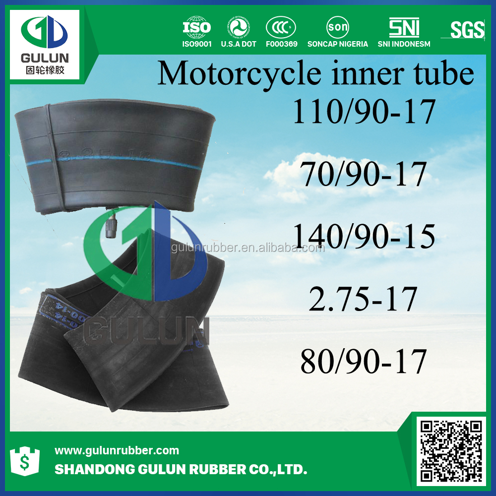 Chines supplier wholesale China top brand chinese inner tube for motorcycle 70/90-17 80/90-17 110/90-17 2.75-17