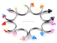 3mm Spike Circulars Horseshoes Eyebrow Rings Body Piercing Jewelry