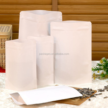 custom printed matt white coffee bag/coffee bean packaging/white kraft paper foil bag