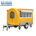 Best sell mobile fast food cart mobile bbq food trailer for sale
