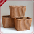 Waterproof plastic wicker woven home or hotel bathroom laundry basket cloth baskets