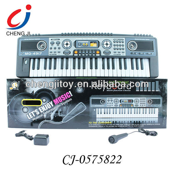 Kids multifuctional simulation toy kids 49 keys best electronic organ music keyboard with microphone