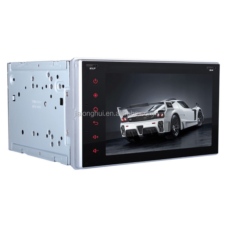 DOUBLE DIN PURE ANDROID 4.4 OS DUAL CORE A9 Car GPS Navi, Car Stereo Radio, GPS+Radio+BT+AUX in/out+1080P Video Playback+SWC
