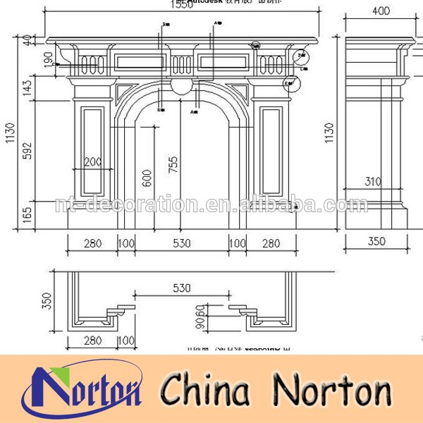 antique stone door frames hotel surround decorations NTMF-D005Y
