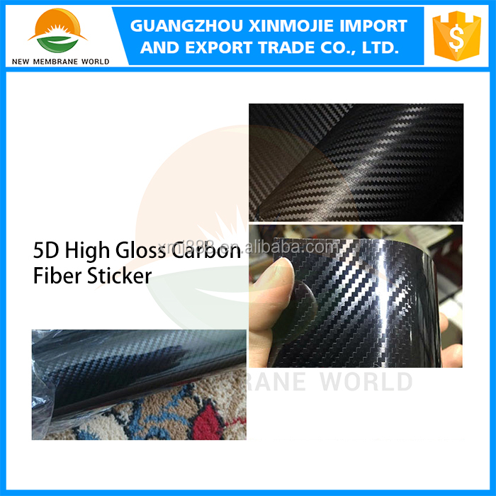 Newest Product 1.52*20m High Glossy Durable Car Used 3D 4D 5D Carbon Fiber Vinyl