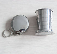 wholesale 6oz Portable Outdoor Stainless Steel metal type Travel Camping Collapsible Cup Folding cup