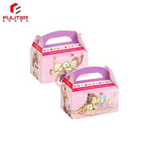 New cardboard paper cake box packaging carrier with handle