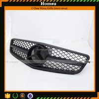 Car Styling ABS Material Matte Black Big Star Style Single Line Front Bumper Grille for Mercedes (2007-2014)C Class W204