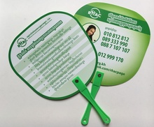 Custom Cheapest Promotional Advertising PP Plastic Hand Held Fan