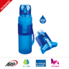 650ml/22oz BPA Free Bottle, Collapsible, Foldable,High Quality Travel Silicone Water Bottle