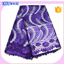 New Arrival 2016 AAA quality gold african organza lace fabric garments buyer in france