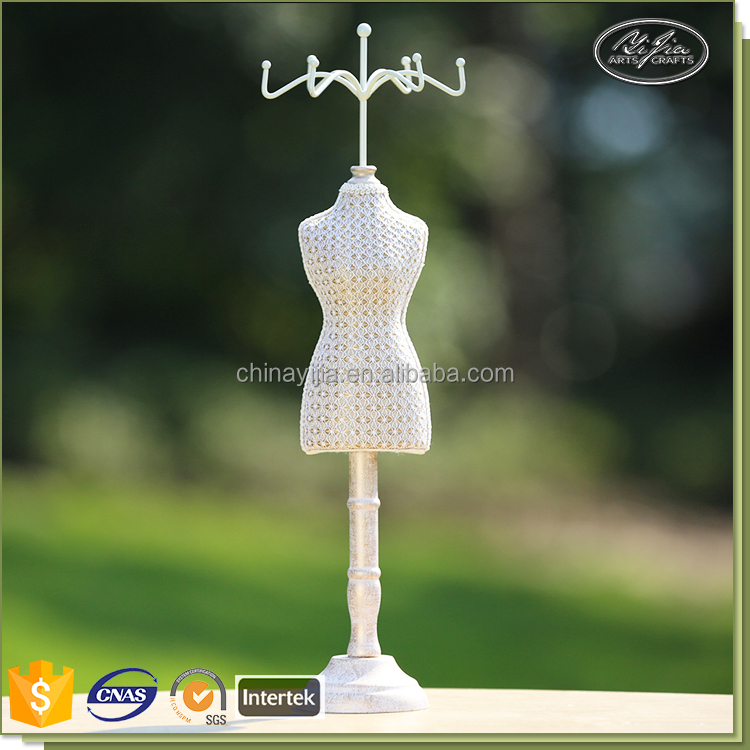fashion jewelry display newest design paper twine torso mannequin necklace display