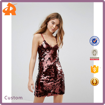 OEM your own sequin sexy girls party dress,high quality christmas light up party dress
