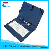 Factory outlet universal tablet keyboard leather case ,7~12inch leather tablet keyboard case , tablet buletooth keyboard