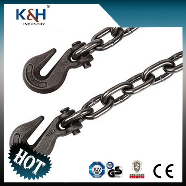 G43 alloy chain with clevis/eye grab hooks