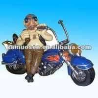 New design resin motorcycle model , polyresin motor craft