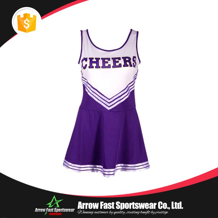 Custom design girls sublimated cheer uniforms
