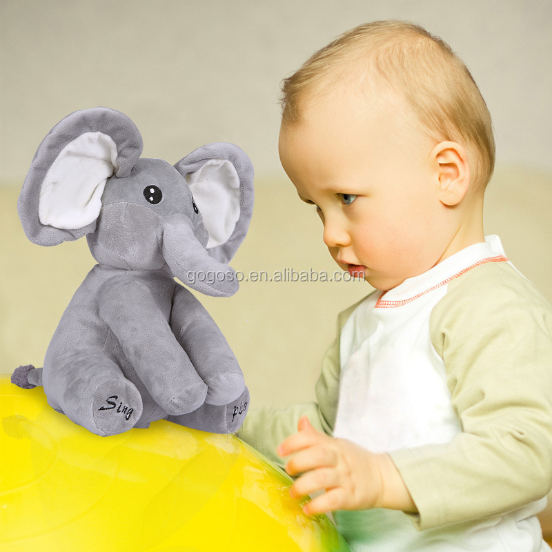 Soft Elephant Speaker Musical <strong>Plush</strong> Toy Kids Educational Toy