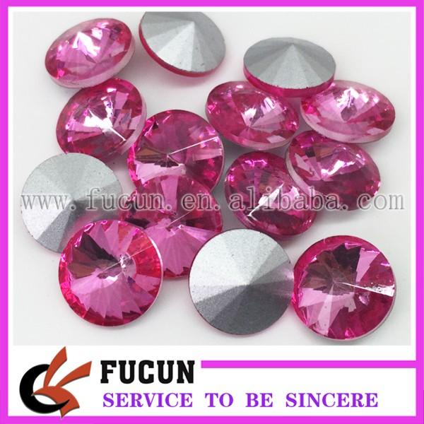 pointback glass round hot pink.jpg