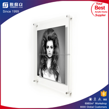 Yageli 2016 customized acrylic photo frame , acrylic picture frame insert