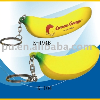 PU banana key chain