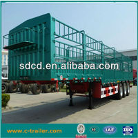 3 axle fence trailer with stake truck / high side wall semi trailers