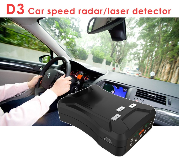 Early Warning Police Speed Gun Radar Detector D3 with X K KA Band Laser Strelka CT