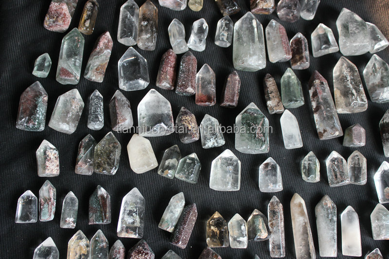 Natural Small Phantom Ghost Clear Quartz Crystal Points Polished Healing Brazil Wholesale Price ,Tianniu