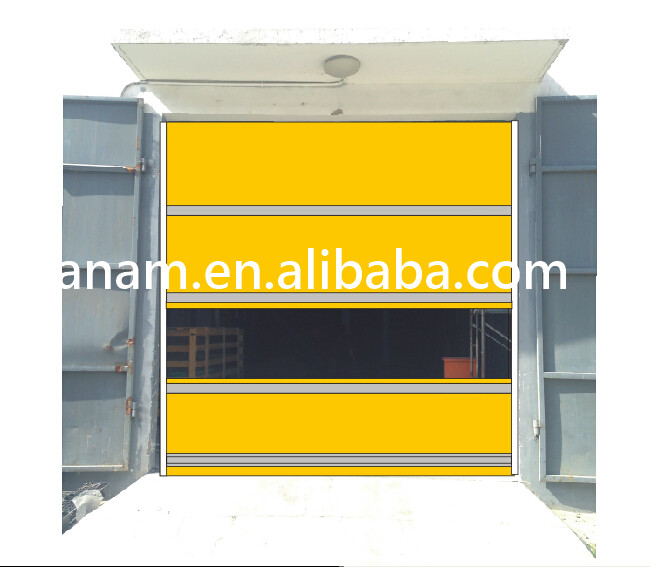 Modern Industry Automatic Wind Resitant High Speed PVC Fabric Door