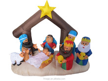 Christmas Inflatable Nativity Scene with Three Kings Party Decoration