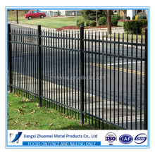 Powder coated security backyard metal steel picket fence/iron fence
