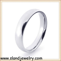 Alibaba website China supplier SLand jewelry online wholesale high polish stainless steel mens ring blanks