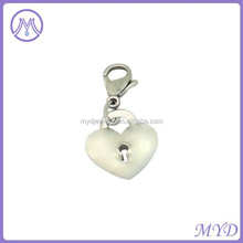 925 sterling silver heart dangle charm for pendant