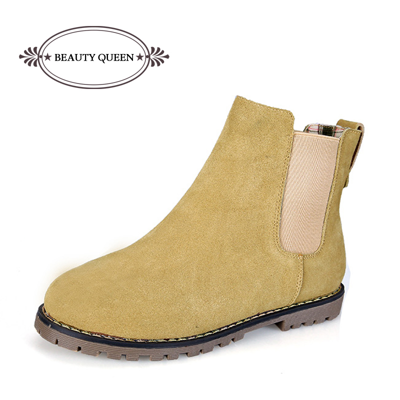 Desirca Women Martin Boots Autumn Winter Boots Classic Zipper Ankle Boots Suede Warm Plush Women Shoes