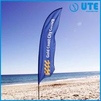 vertical advertising banner outdoor beach flag fabric dye sublimation print