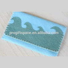 alibaba express hot sale high quality new products handmade durable fabric felt aluma wallet made in china