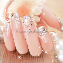 New products dazzling crystal hotfix rhinestone 3d nail sticker adhesive rhinestones for nails