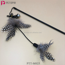Funnny Cat Toy Feather Teasers With Bell Teaser Plastic Wand Toy For Cat